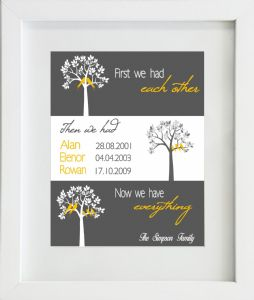 Personalised First We Had Each Other Family Tree Print